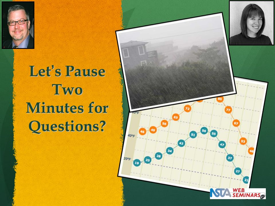 Let's Pause Two Minutes for Questions?
