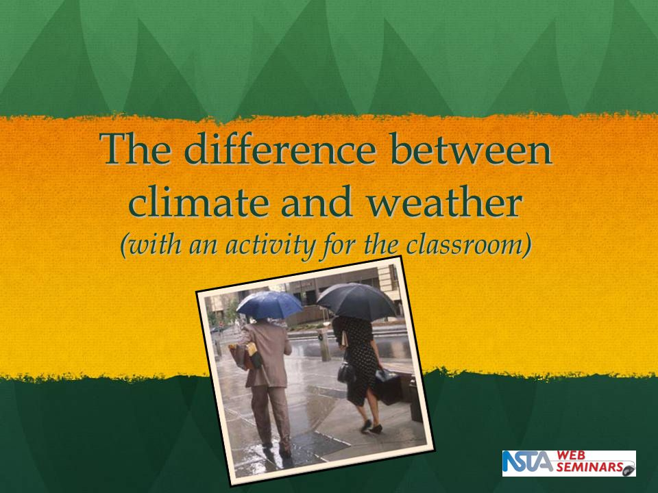 The difference between climate and weather (with an activity for the classroom)