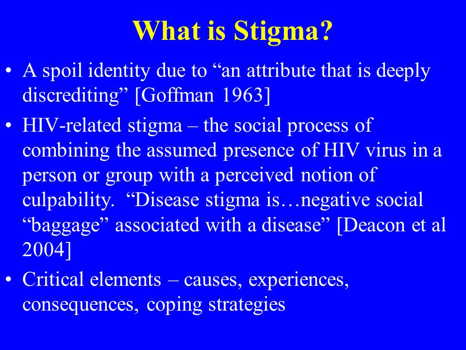What is Stigma.