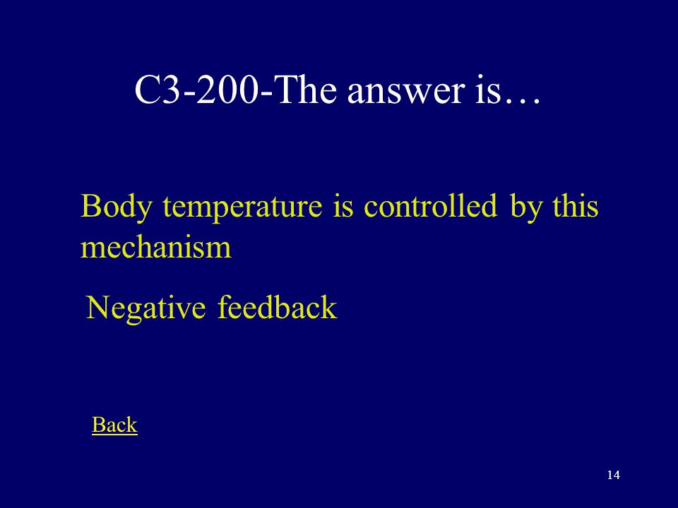 13 C3-100-The answer is… The study of individual cells. cytology Back