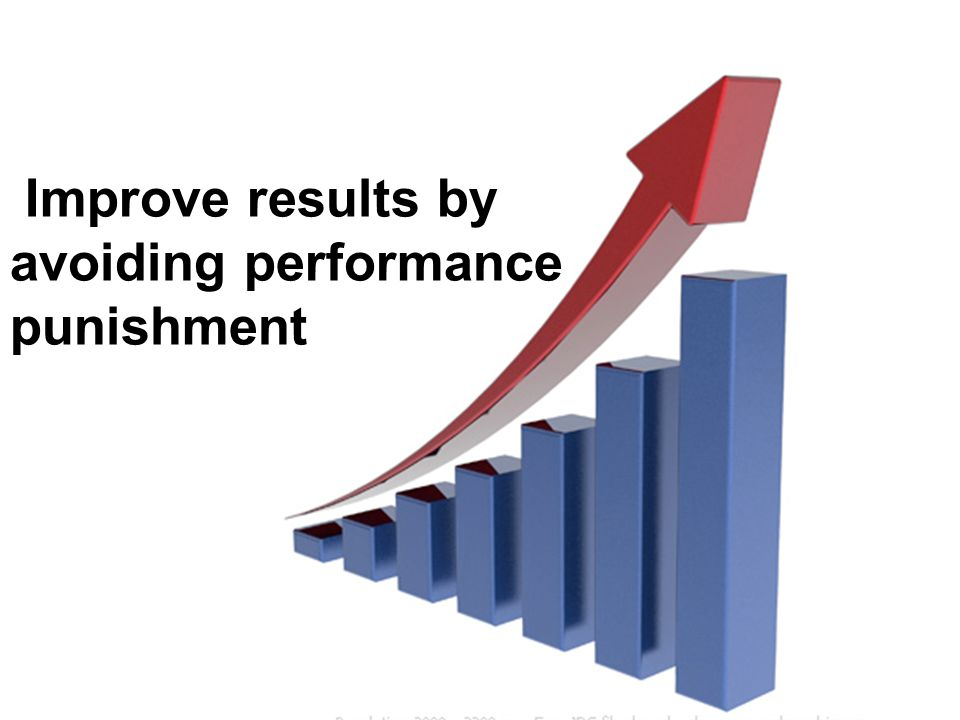 Improve results by avoiding performance punishment