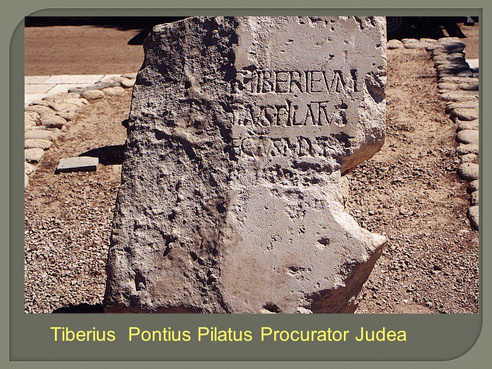 Tiberius Pontius Pilatus Procurator Judea
