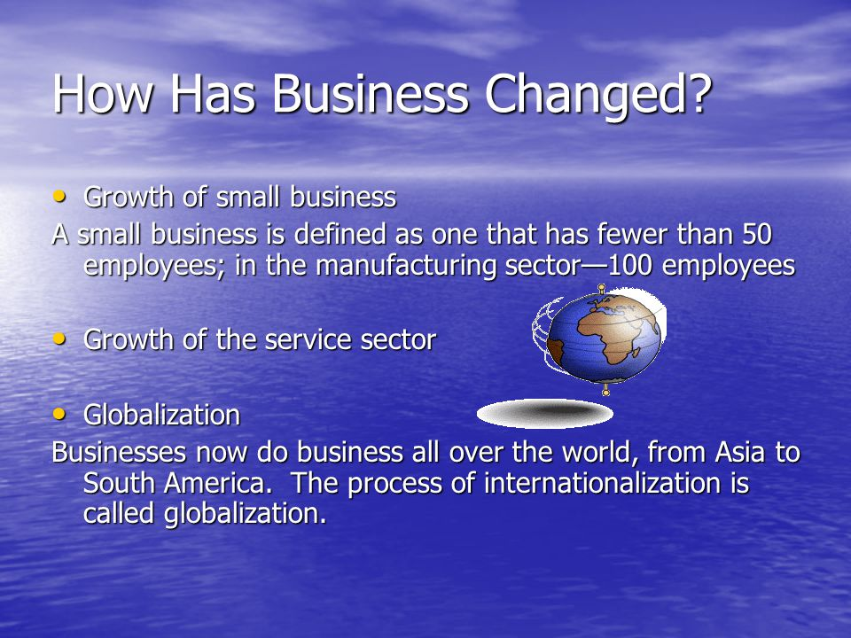 How Has Business Changed.