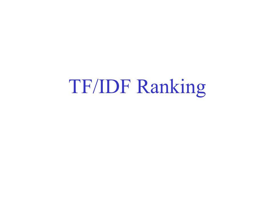 TF/IDF Ranking