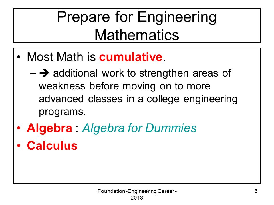 Foundation -Engineering Career - 2013 6 Some Mathematicians of Interest - Algebra Muhammad ibn Musa Khwarizmi (780 – 850) was a Persian mathematician, astronomer and geographer.Persian mathematicianastronomergeographer His Algebra, written around 820, was the first book on the systematic solution of linear and quadratic equations.Algebra linearquadratic equations