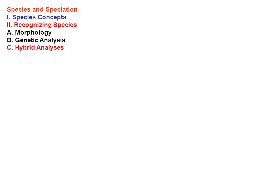 Speciation I.Modes: A.