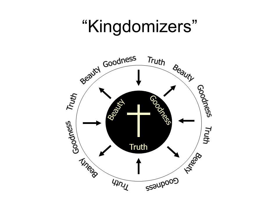 """Kingdomizers"" Truth Beauty Goodness Truth Beauty Goodness Truth Truth Truth Beauty Beauty Beauty Goodness Goodness Goodness"