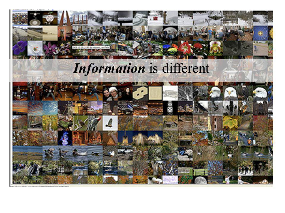 Information is different