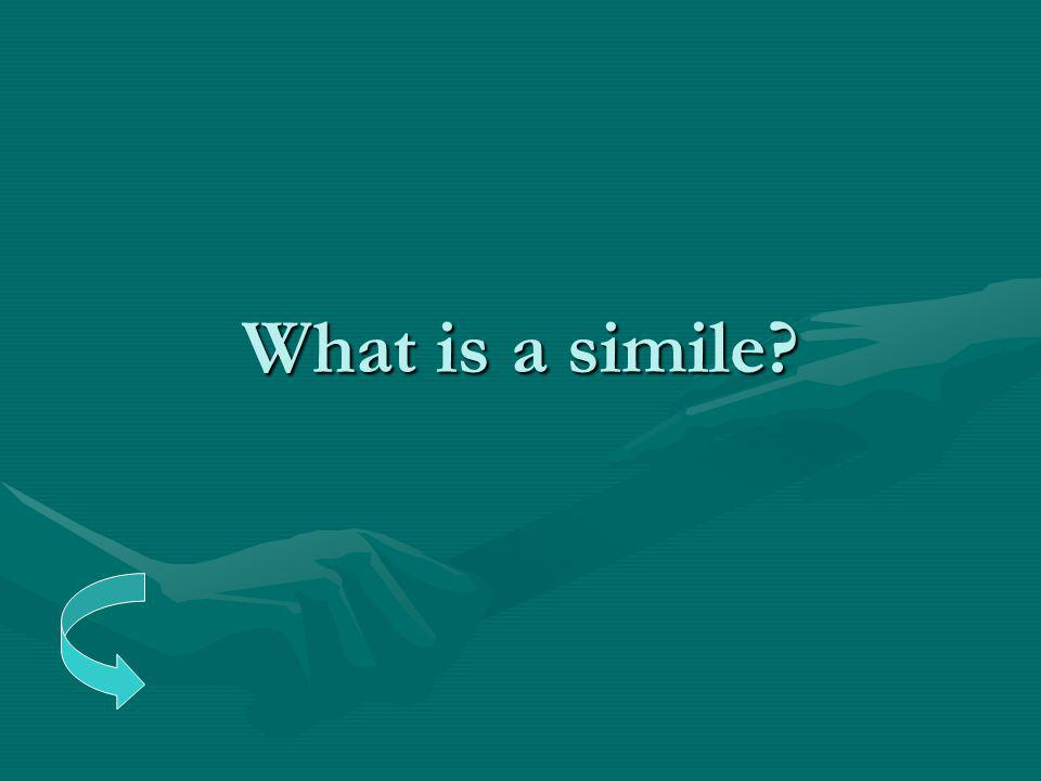 What is a simile