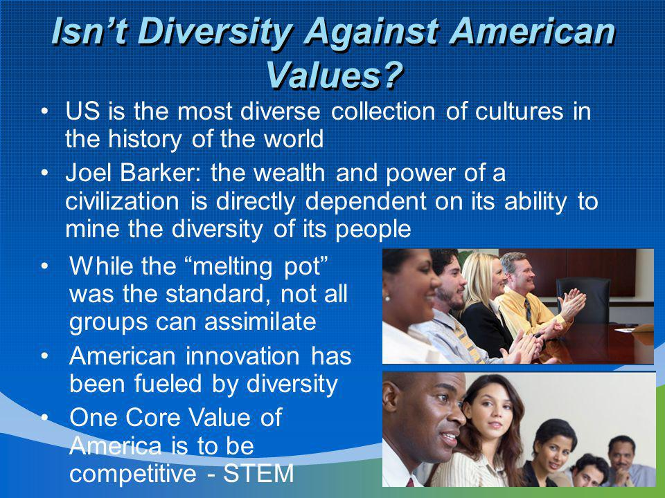 Isn't Diversity Against American Values.