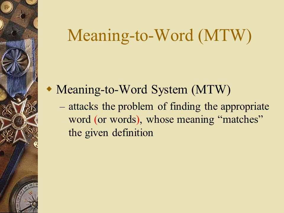 Query Processing User Definition Search in Dictionary Rank Candidates query candidates List of words Query Processing