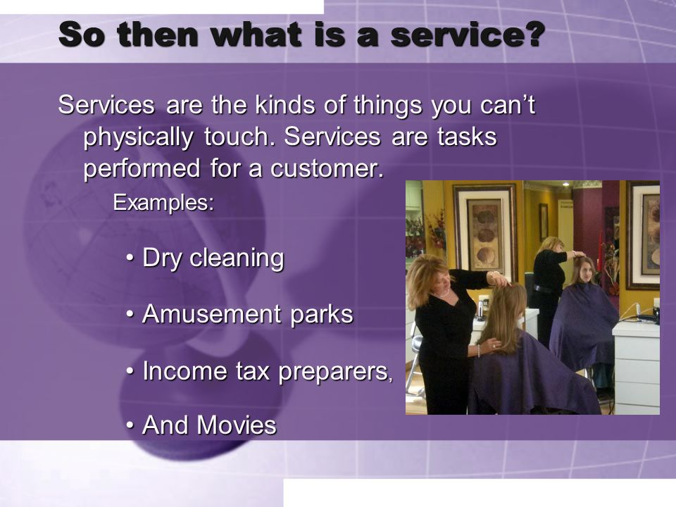 Can you pick which ones are goods/services.