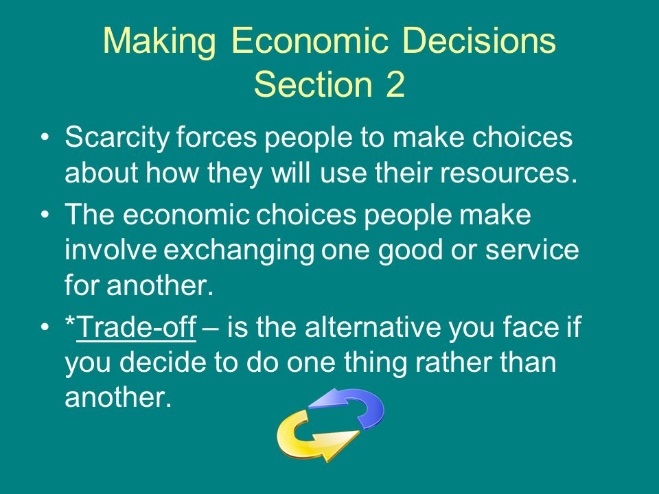 Making Economic Decisions *Opportunity cost – is the cost of the next best use of your time or money when you choose to do one thing rather than another.