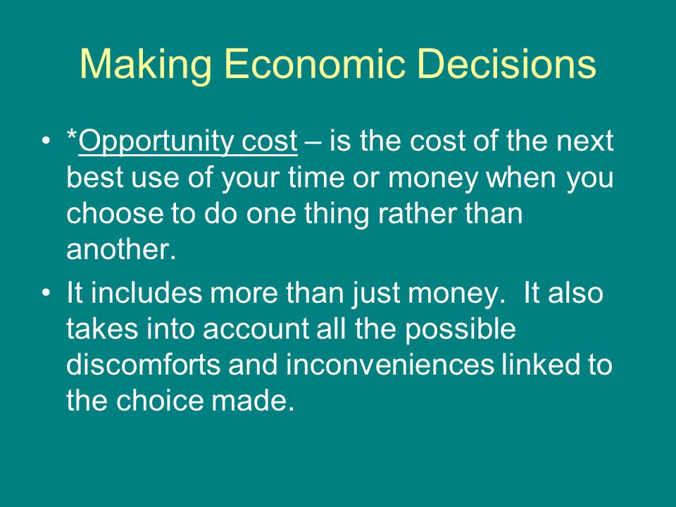 Measure of Cost To do this we need to look more closely at costs and revenues.