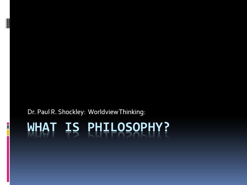 Philosophy begins in wonder.