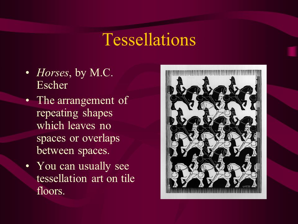 Tessellations Horses, by M.C.