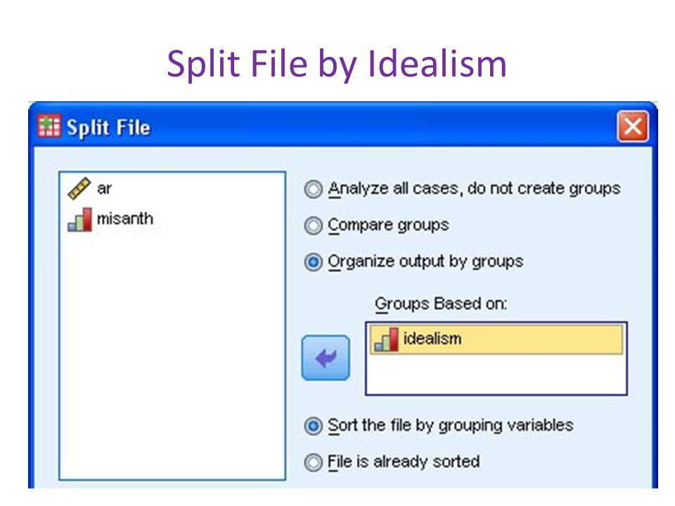 Split File by Idealism