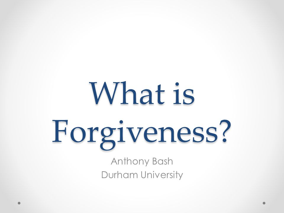 Is it always morally virtuous to forgive?