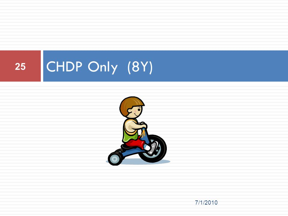 CHDP Only (8Y) 25 7/1/2010