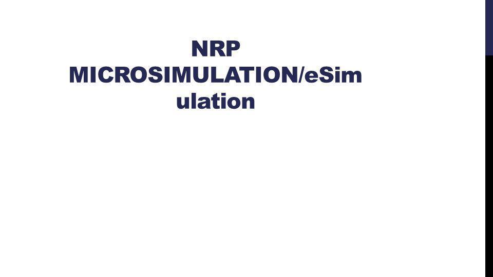 NRP MICROSIMULATION/eSim ulation