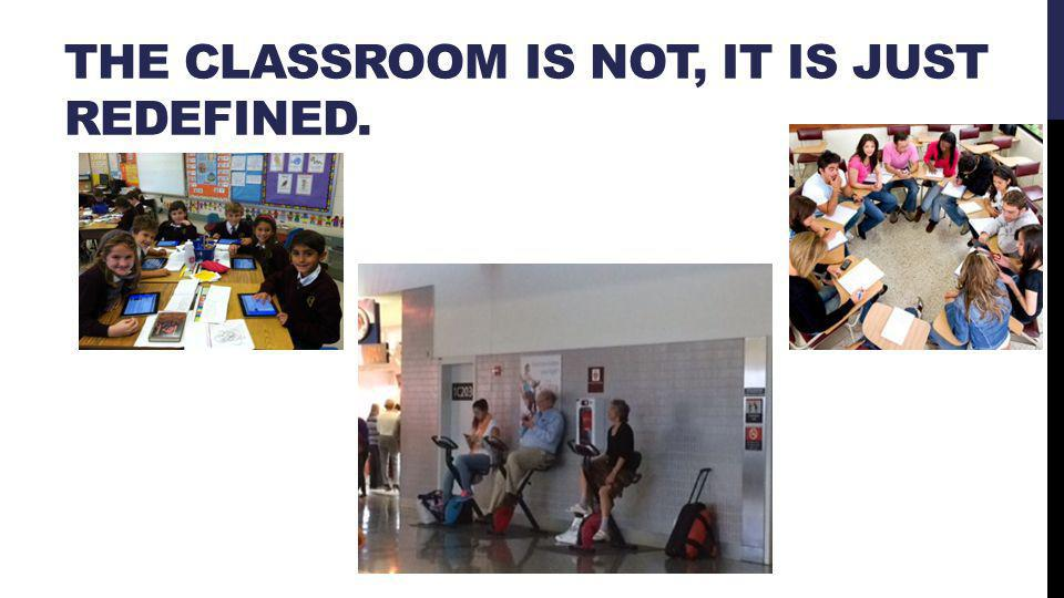 THE CLASSROOM IS NOT, IT IS JUST REDEFINED.