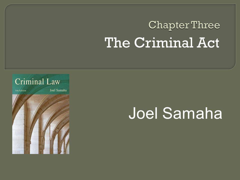 The Criminal Act Joel Samaha