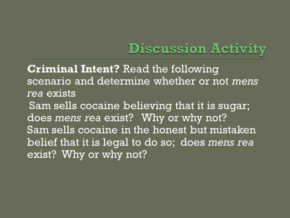 Criminal Intent.