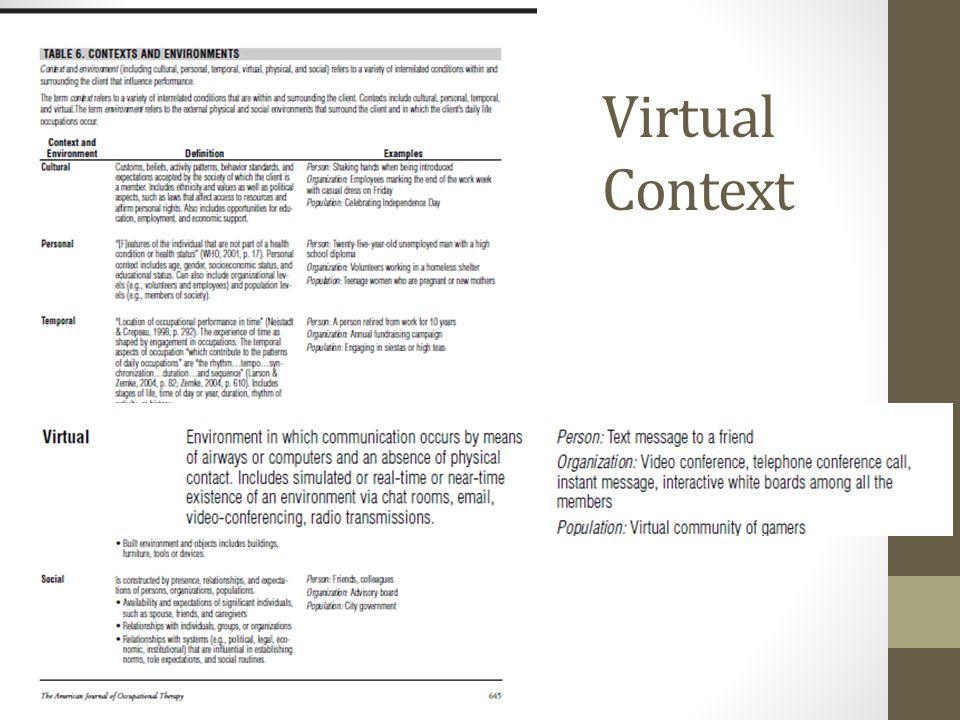 Virtual Context