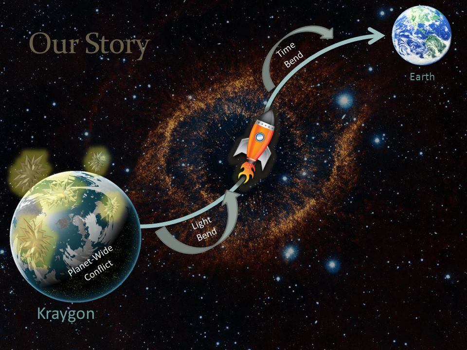 Kraygon Earth Our Story Light Bend Time Bend Planet-Wide Conflict