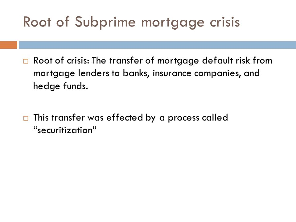 What is securitization.