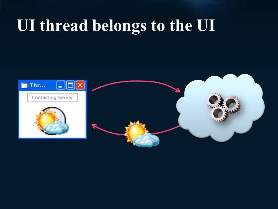 UI thread belongs to the UI
