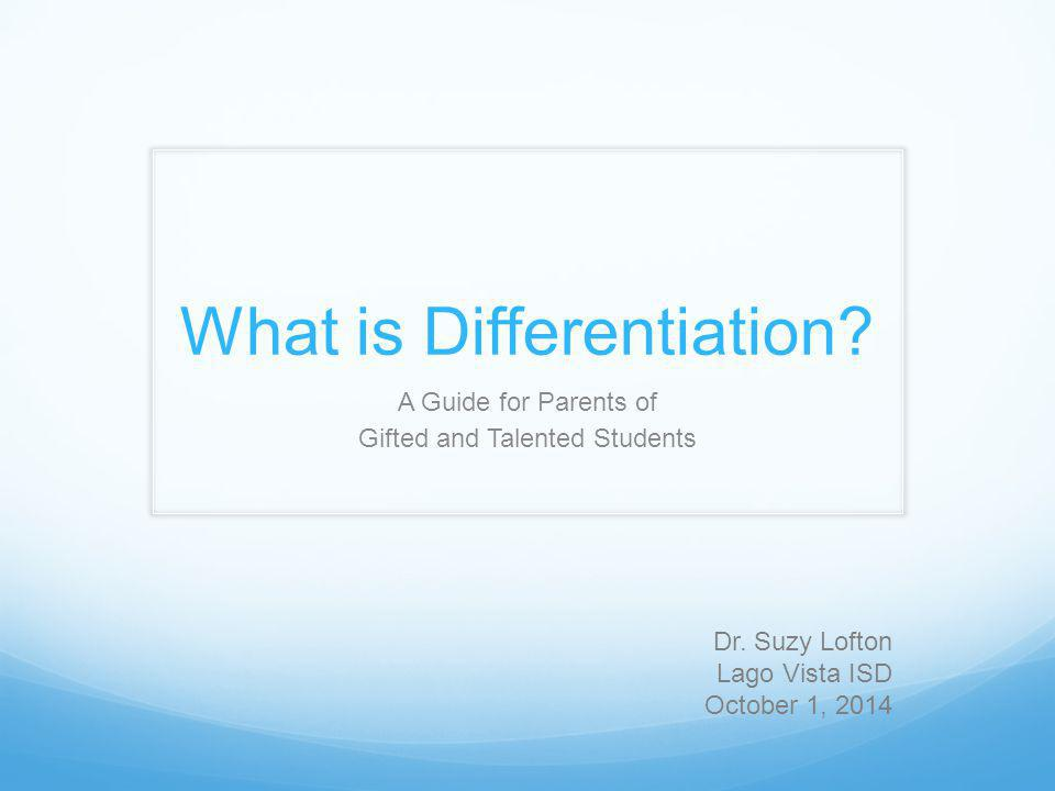 What are some concrete examples of differentiation.