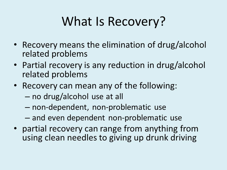 What Is Recovery.