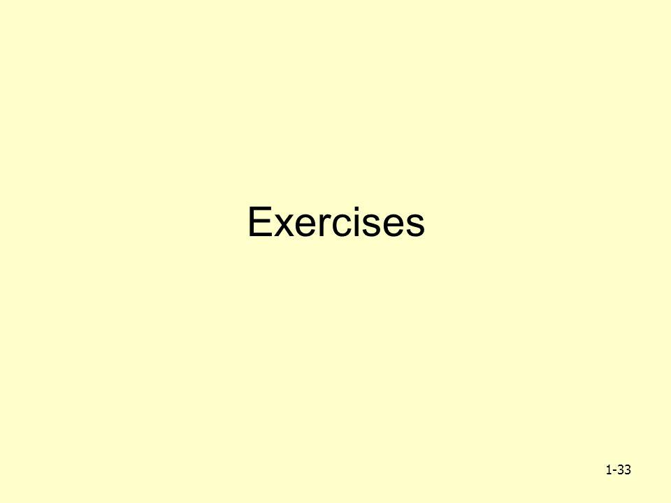 1-33 Exercises