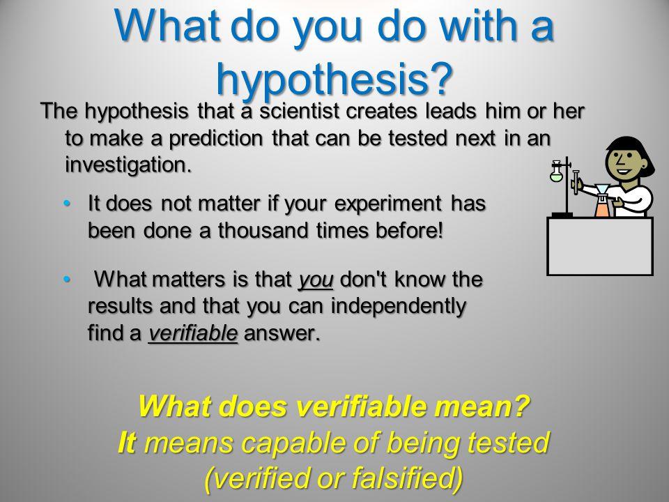 How do you write a hypothesis.