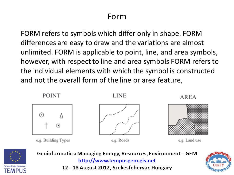 Form Geoinformatics: Managing Energy, Resources, Environment – GEM http://www.tempusgem.gis.net 12 - 18 August 2012, Szekesfehervar, Hungary http://ww
