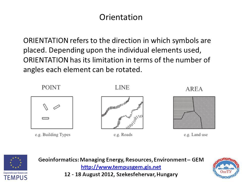 Orientation Geoinformatics: Managing Energy, Resources, Environment – GEM http://www.tempusgem.gis.net 12 - 18 August 2012, Szekesfehervar, Hungary ht
