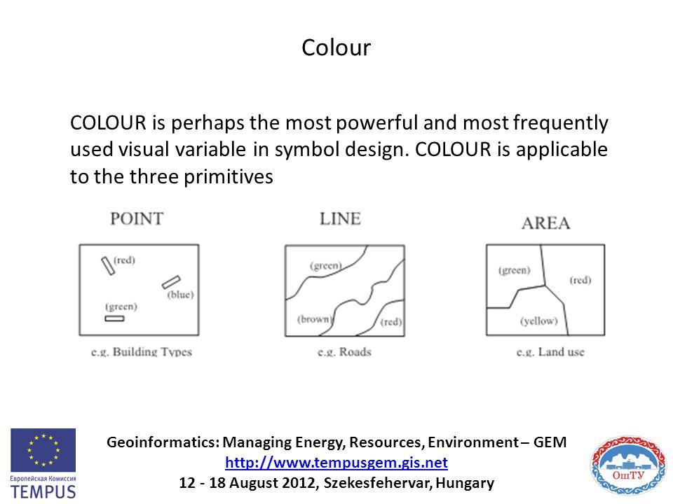 Colour Geoinformatics: Managing Energy, Resources, Environment – GEM http://www.tempusgem.gis.net 12 - 18 August 2012, Szekesfehervar, Hungary http://