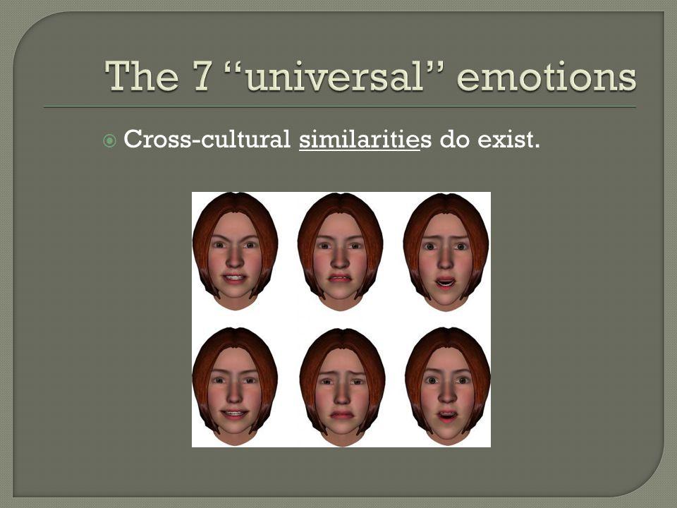  Cross-cultural similarities do exist.