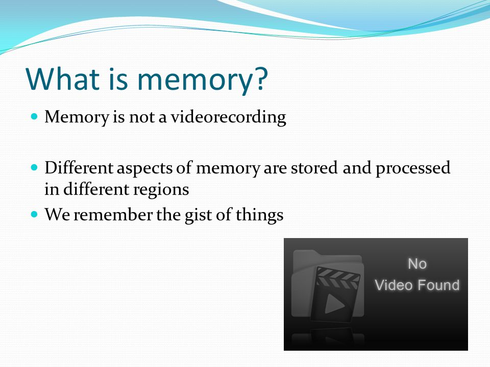 What is memory.