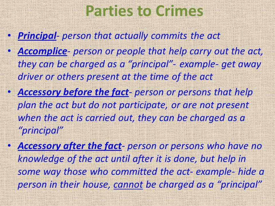 Problem 8.2 Harold and Marci decide to burglarize Superior Jewelers.