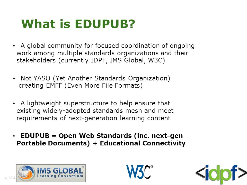 What is EDUPUB.