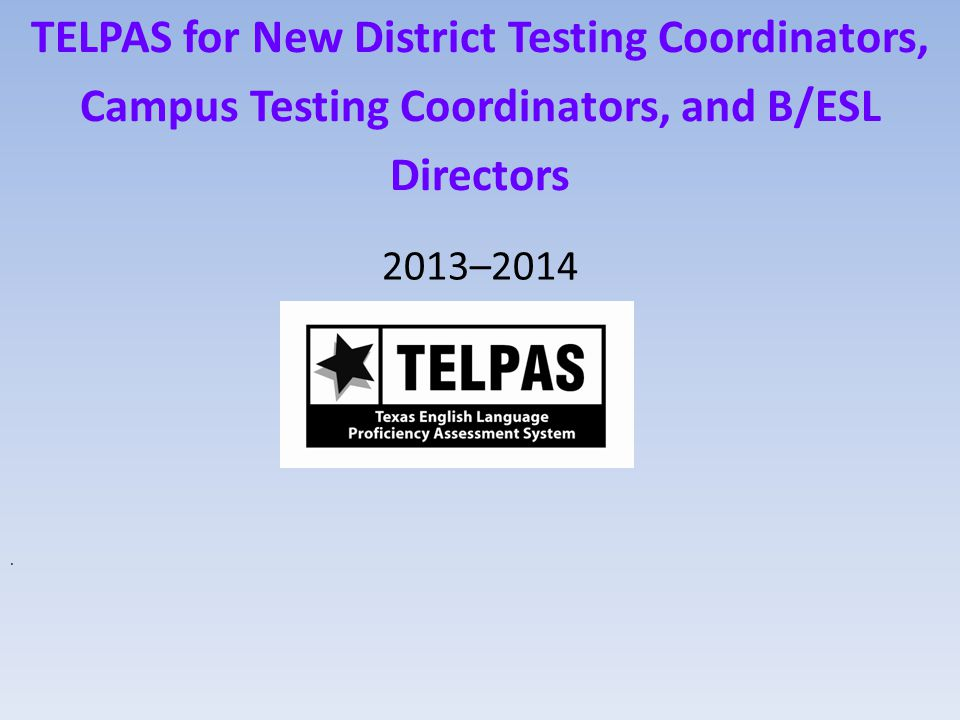 TELPAS results are used to — set learning goals for ELLs keep parents and students aware of annual progress in learning English inform instructional planning and bilingual/ESL program exit decisions report performance to the public evaluate programs, resources, and staffing patterns evaluate districts and campuses in federal and state accountability and monitoring indicators TEA 12