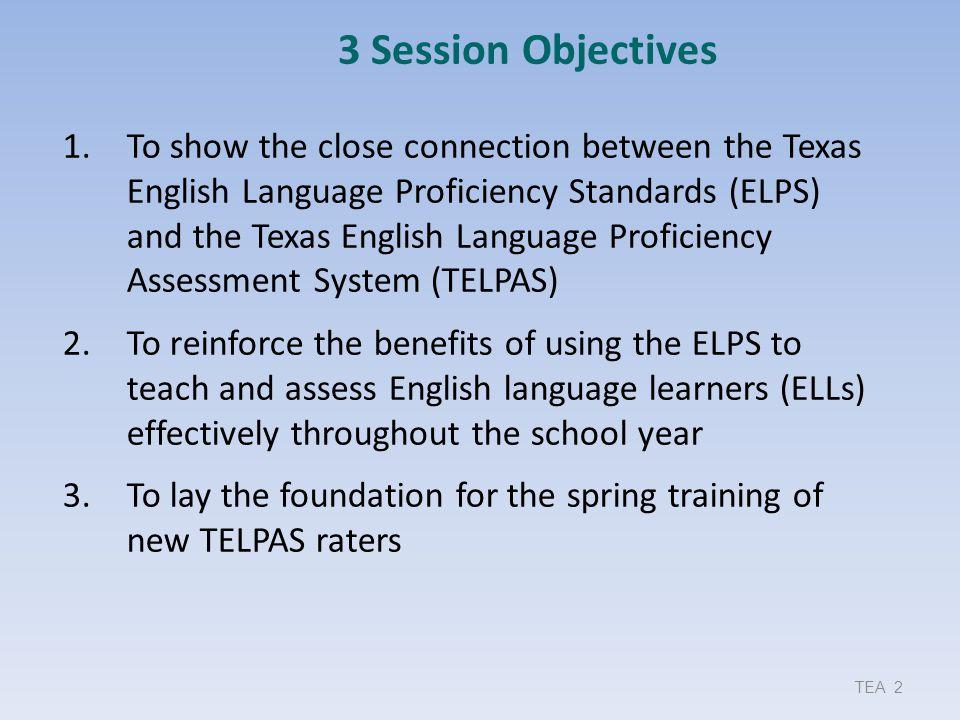 TELPAS Returning Rater Planning Roster 123Provided by ESC Region XI
