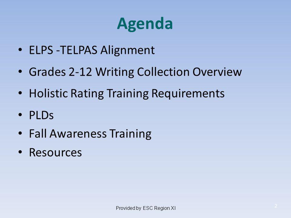Upcoming ELL Assessment Training Annual ESC LPAC Assessment Training TETN October 8, 2013 9:00 a.m.