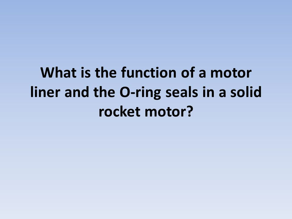 What is the function of a motor liner and the O-ring seals in a solid rocket motor?