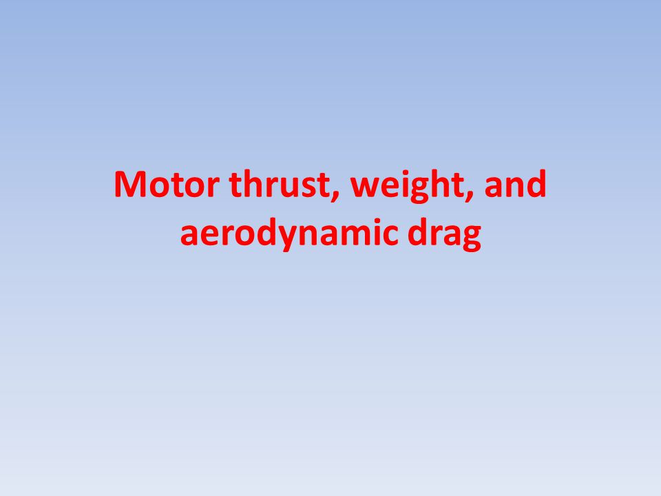 What is the thrust curve of a progressive motor?