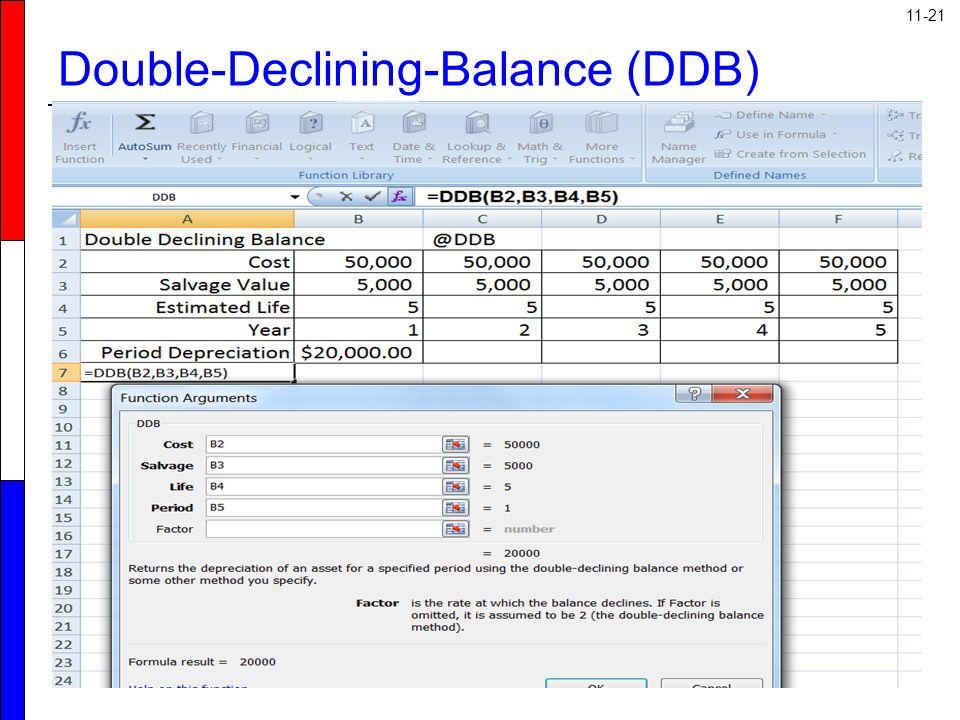 11-21 Double-Declining-Balance (DDB)