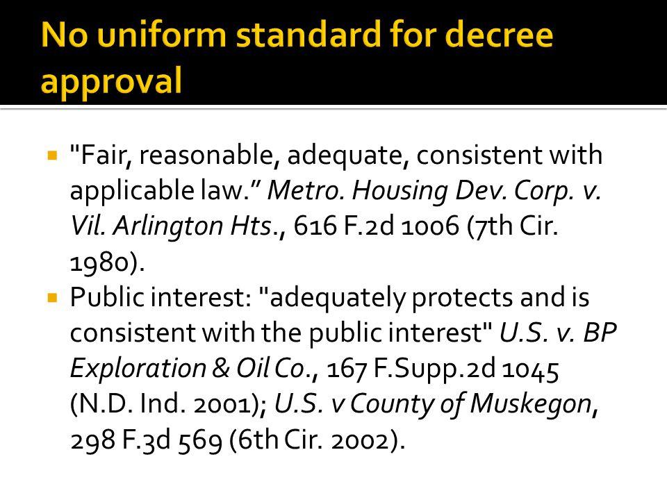  No general mechanism or procedure for applying public interest standard.