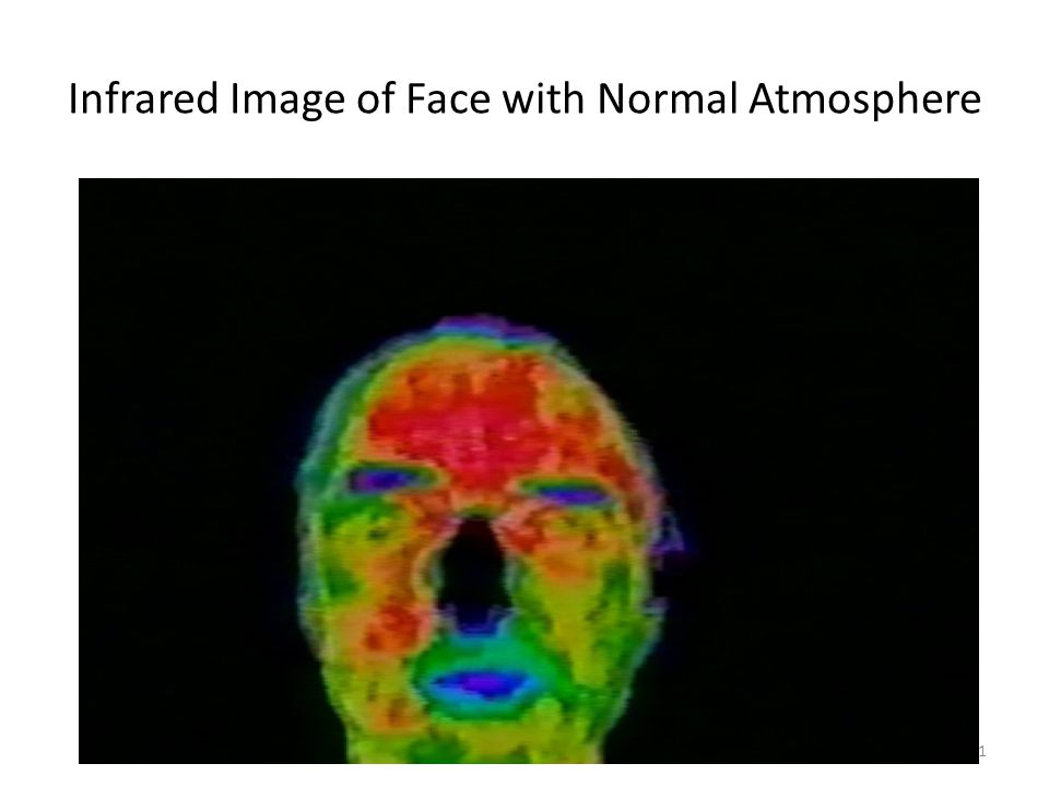 Why Earth is still warming21 Infrared Image of Face with Normal Atmosphere